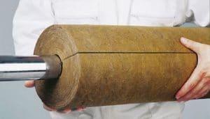 عایق کاری لوله ها توسط عایق پشم سنگ لوله ای
